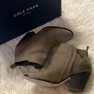 Cole Haan Chesney Bootie in Greystone Leather